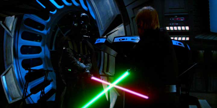Light saber fighting
